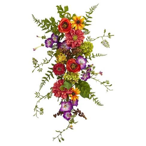 Garden Flower Teardrop - Nearly Natural - image 1 of 3