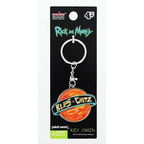 Hot Properties Rick and Morty Metal Keychain: Blips and Chitz - image 1 of 1