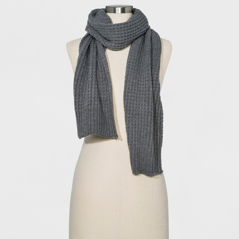 Mens Moss Stitch Knit Oblong Scarf Goodfellow Co Gray One Size