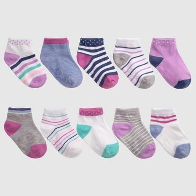 Toddler Girls' 10pk Basic Socks - Cat & Jack™ Purple