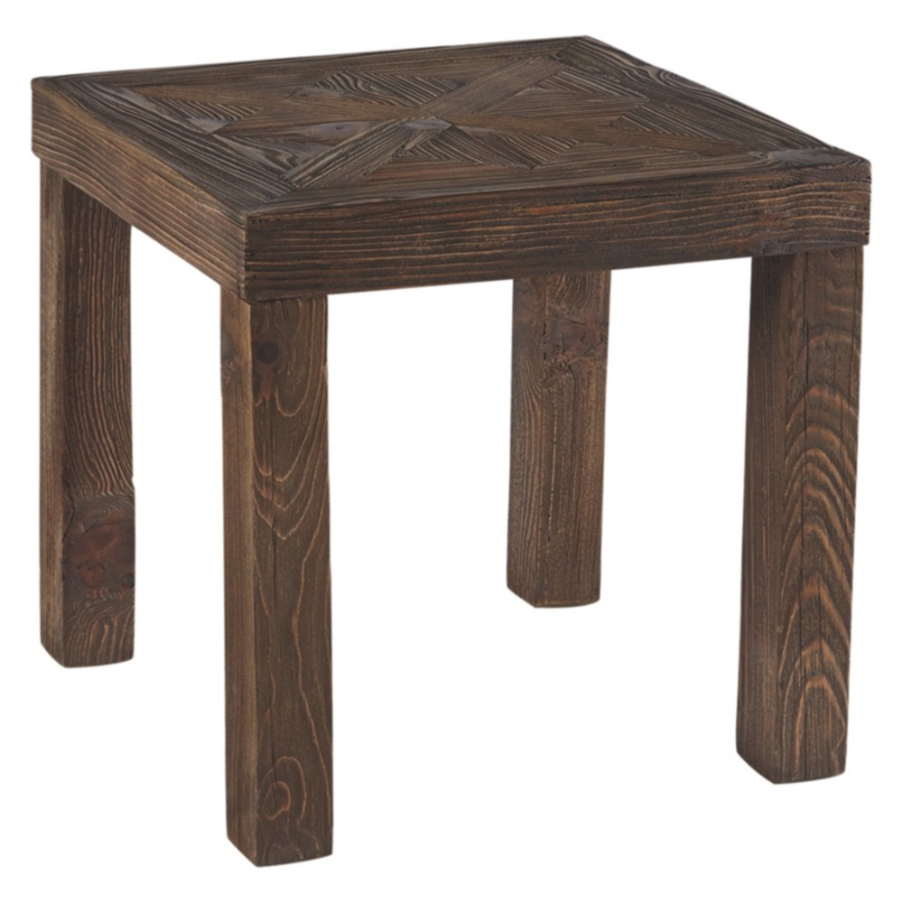 Ossereene Square End Table Brown - Signature Design by Ashley
