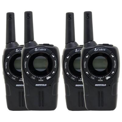 Cobra CXT235 MicroTalk 20 Mi FRS/GMRS 22 Channel 2 Way Walkie Talkie (4 Radios)