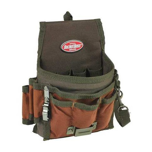 """BUCKET BOSS 54140 Tool Pouch,Brown/Green,9 Pockets,6-1/2""""W - image 1 of 1"""