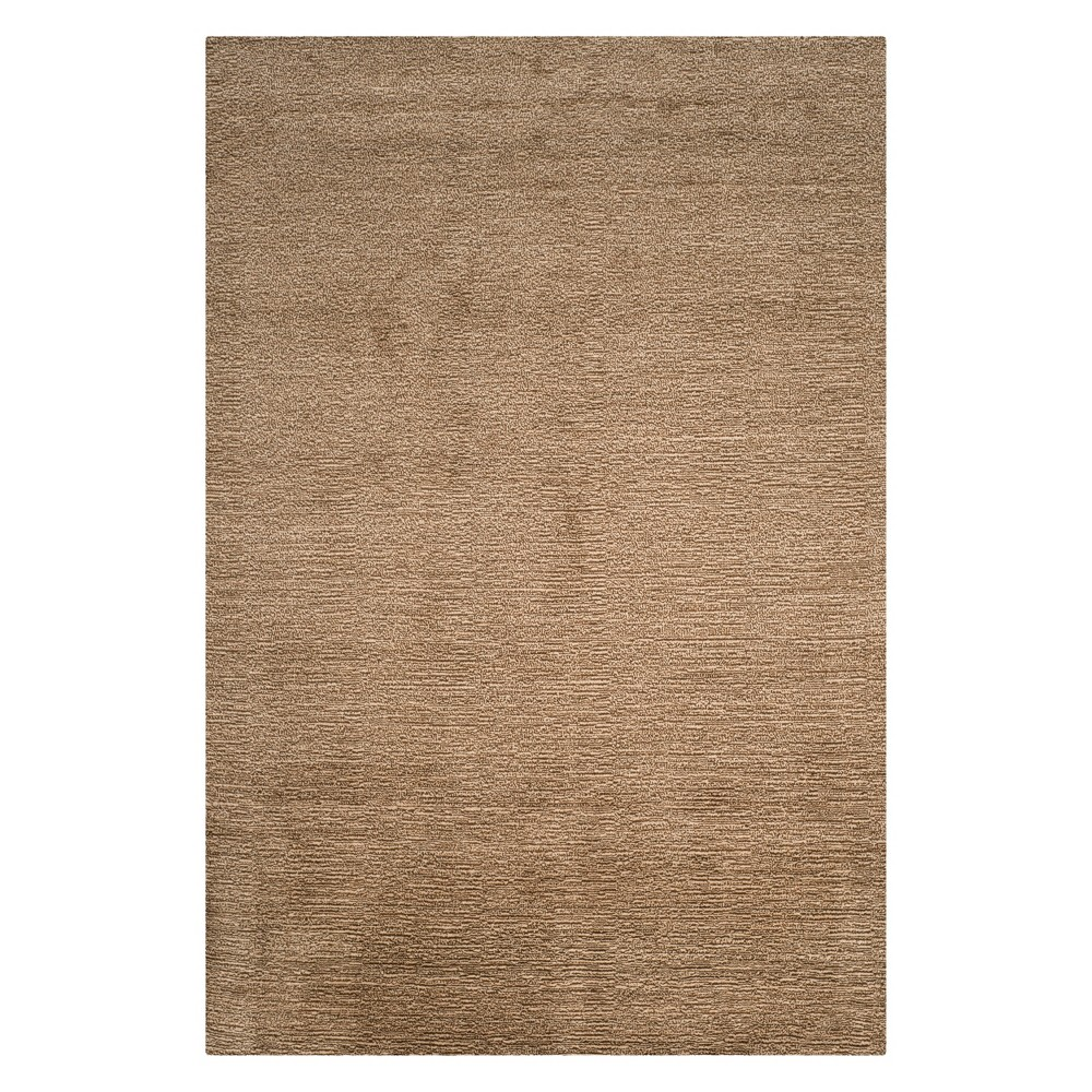 5'X8' Solid Loomed Area Rug Brown - Safavieh