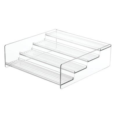 mDesign Plastic Bathroom Medicine Organizer, 4 Level Shelf