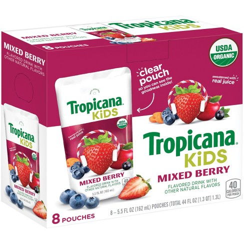 Tropicana Kids Mixed Berry - 8pk/5.5 fl oz Pouches - image 1 of 3