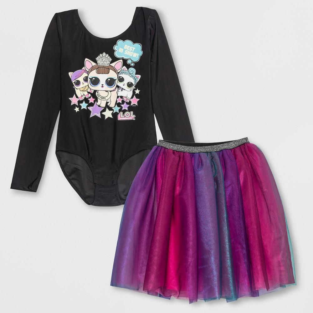 Girls' L.O.L. Surprise! Pets Bodysuit and Skirt Set - Black S