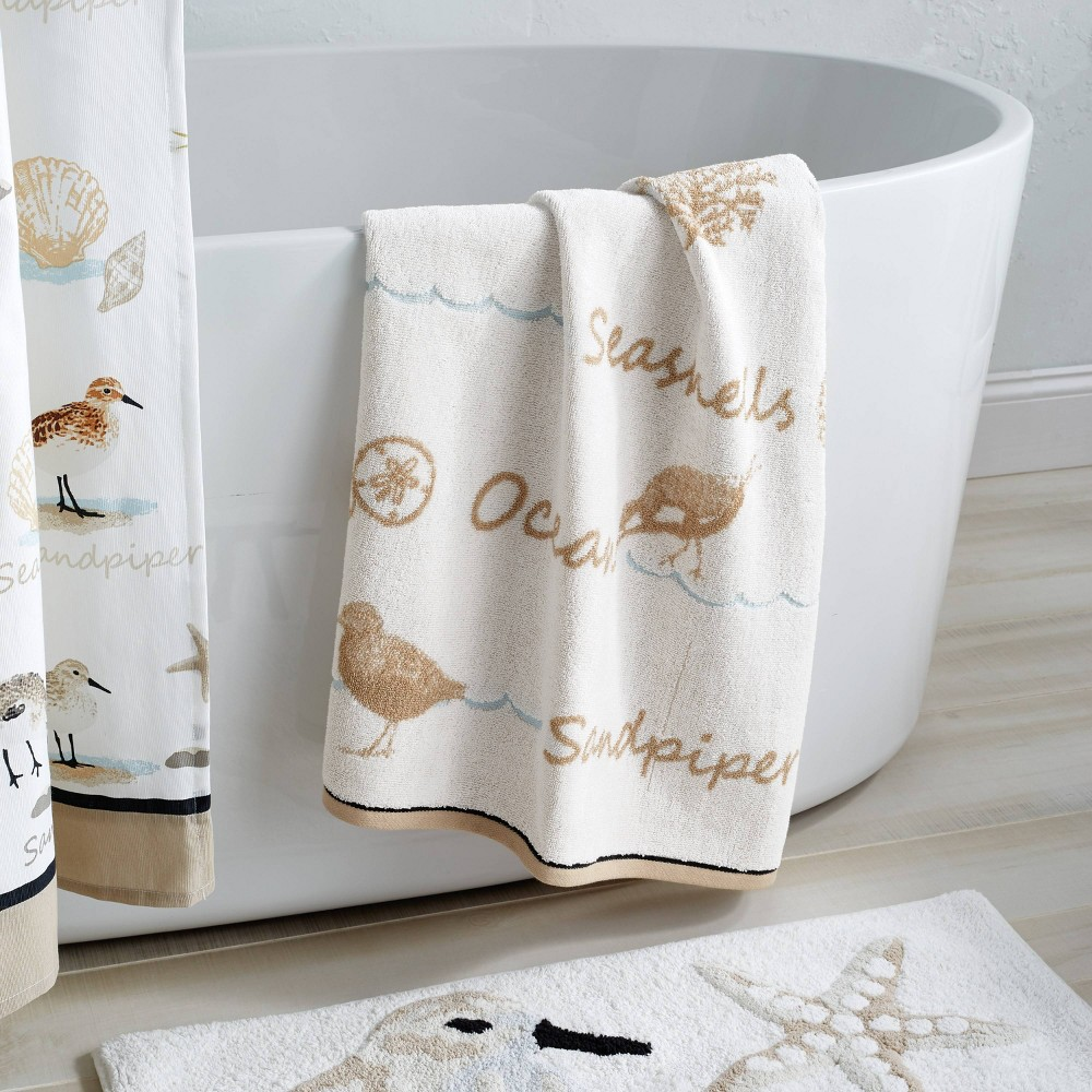 Image of Bird Haven Bath Towel Taupe - Destinations