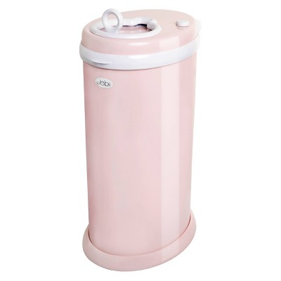 Ubbi Steel Diaper Pail - Blush Pink
