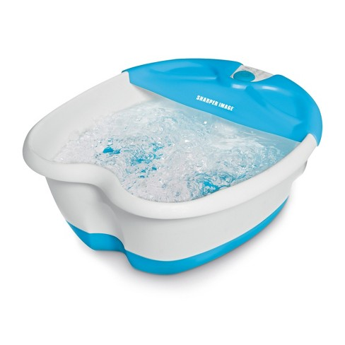 Sharper Image Foot Spa Massager With Bubbles And Heat Target