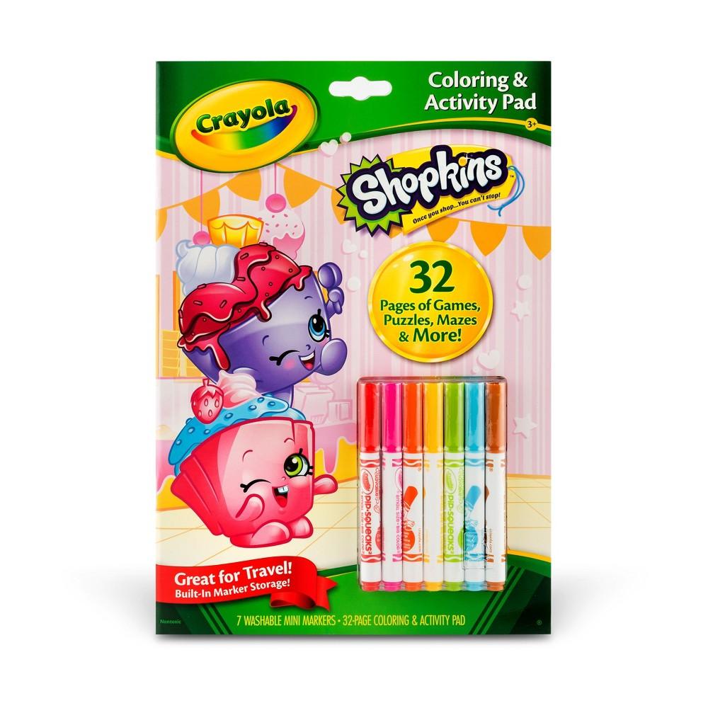 Crayola Shopkins 32pg Color & Activity Pad