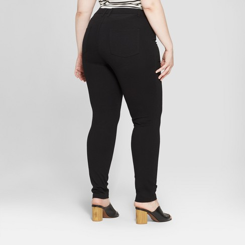 a83f8426fab Women s Plus Size Ponte Pants With Comfort Waistband - Ava   Viv™   Target