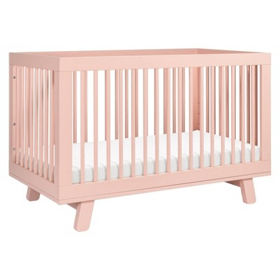 Babyletto Hudson 3-In-1 Convertible Crib With Toddler Bed Conversion Kit - Blush Pink