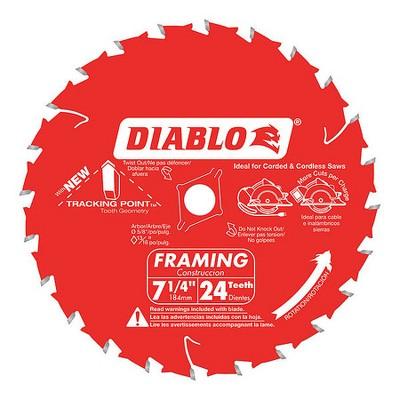 """DIABLO D0724A 7-1/4"""",24-Teeth Circular Saw Blade"""