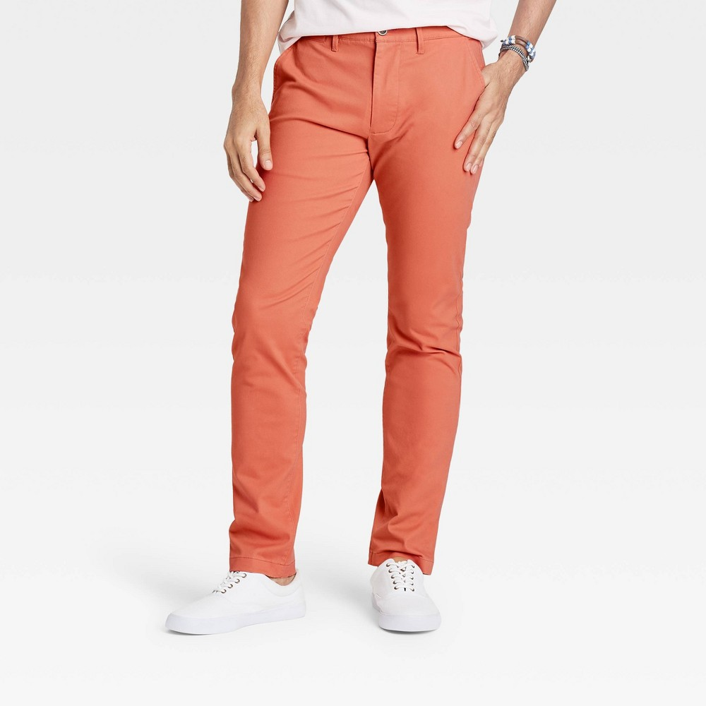 Men 39 S Skinny Chino Pants Goodfellow 38 Co 8482 Coral Stone 38x32