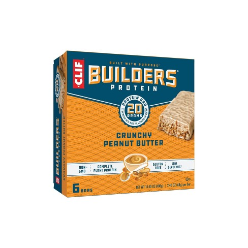 CLIF Builders Protein Bars - Crunchy Peanut Butter - 20g Protein   - image 1 of 4