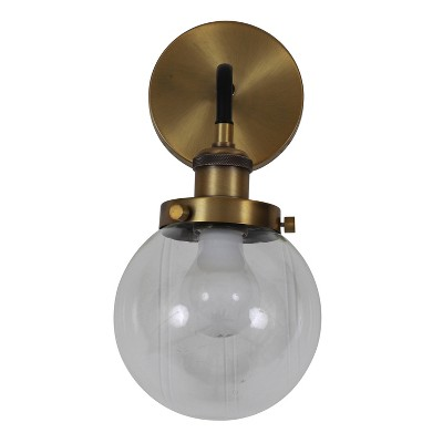 """13"""" x 6"""" Samuel Suspended Orb Wall Sconce Gold - Decor Therapy"""