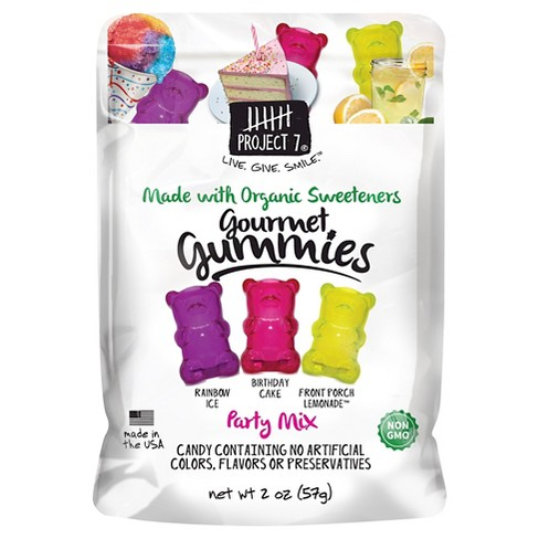 Project 7 Party Mix Gourmet Gummies - 2oz - image 1 of 1