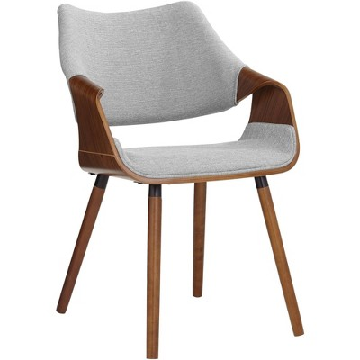 Studio 55D Westin Gray Fabric and Beech Wood Dining Chair