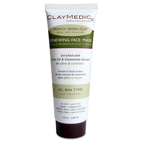 Claymedicx French Green Clay Renewing Face Mask - Olive Oil & Chamomile - 4oz - image 1 of 1