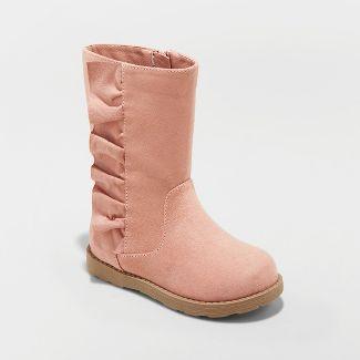 Toddler Girls' Reva Ruffle Boot - Cat & Jack™ Pink 9