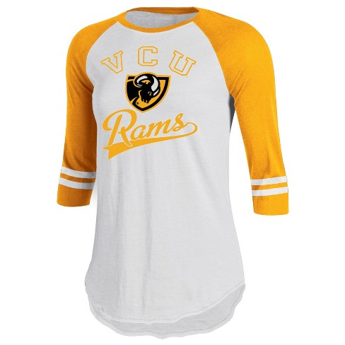 c9c0fc5c VCU Rams Women's Retro Tailgate White/3/4 Sleeve T-Shirt