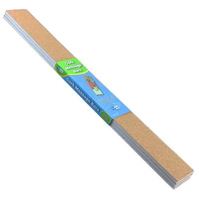 """Flipside Cork Message Bars Frameless 2"""" x 20"""" 3/Pk FLP10060"""
