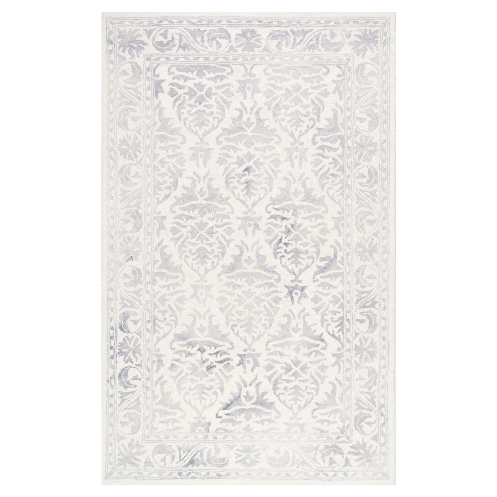 Sterling Gray Solid Tufted And Looped Area Rug - (6'x9') - nuLOOM, Blue