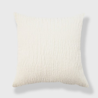 Chenille Textured Washed Woven Throw Pillow - Evergrace
