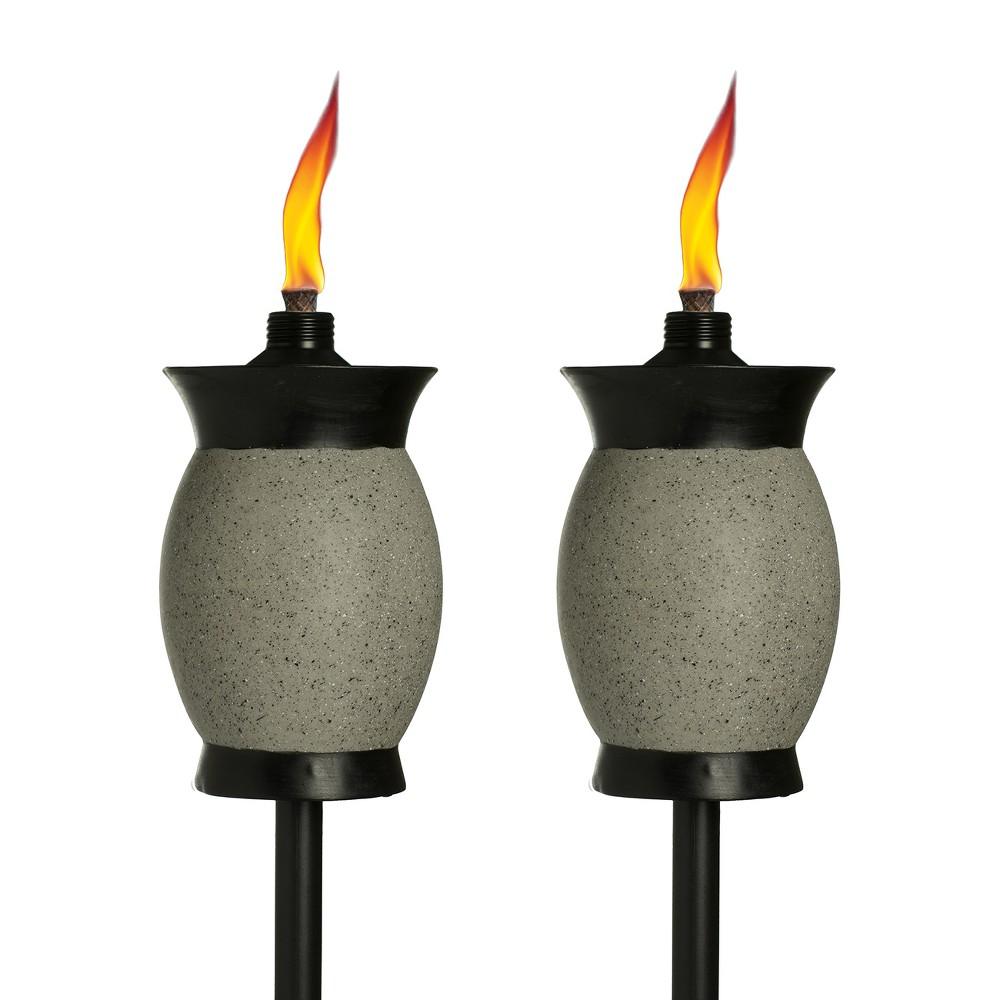 """Image of """"64"""""""" 2pk 4-in-1 Resin Jar Torch Graphite - TIKI, Gray"""""""