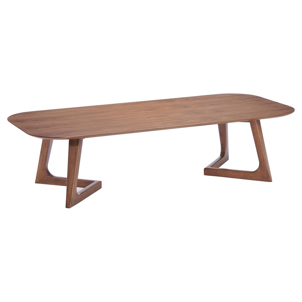 Mid-Century Modern 59 Coffee Table - Walnut (Brown) - ZM Home