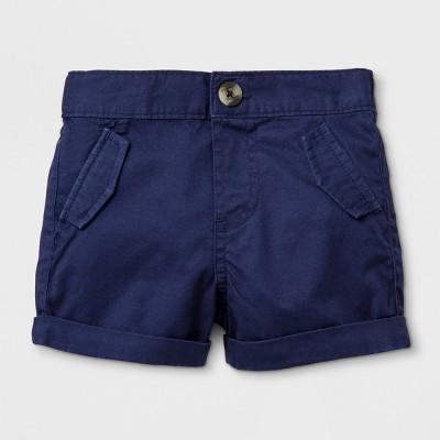Baby Boys' Chino Shorts - Cat & Jack™ Navy 6-9M