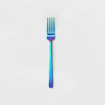 Stainless Steel Iridescent Dinner Fork - Room Essentials™