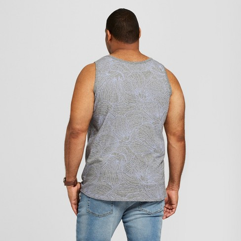 5e4ce0fbbb4c6 Men s Big   Tall Novelty Tank Top - Goodfellow   Co™ Cement   Target