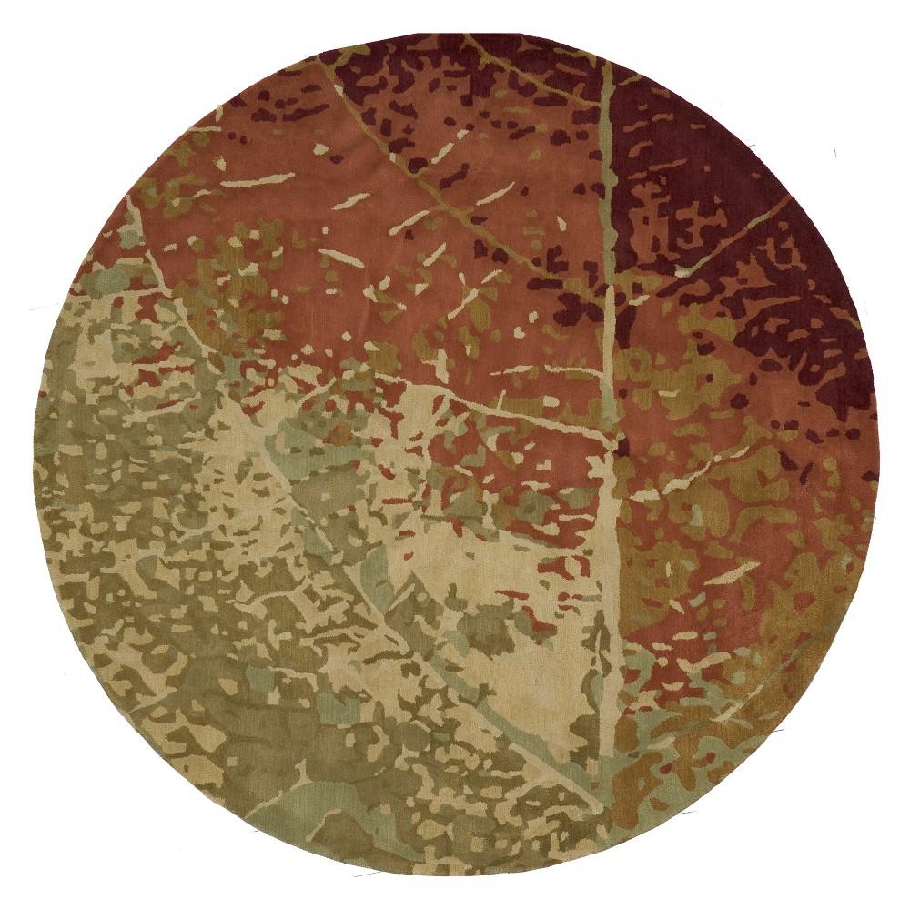 8'X8' Leaf Tufted Round Area Rug - Momeni