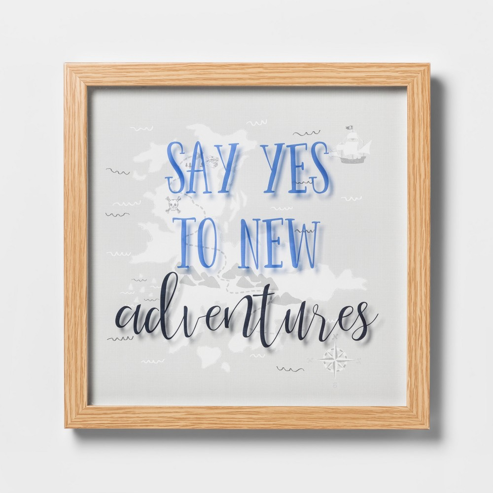 Say Yes To New Adventures Framed Wall Poster - Pillowfort