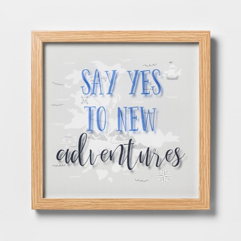 Say Yes To New Adventures Framed Wall Poster - Pillowfort™ - image 1 of 4