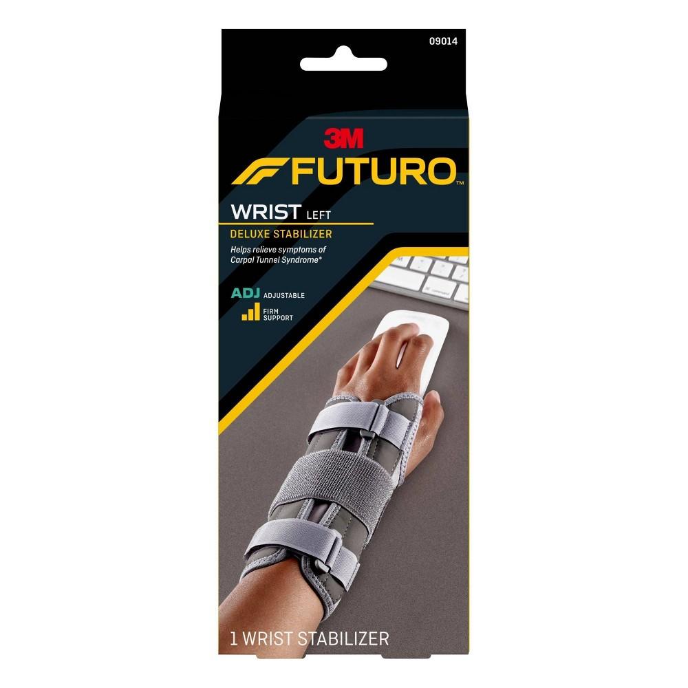 Futuro Deluxe Wrist Stabilizer - Left Hand, Gray