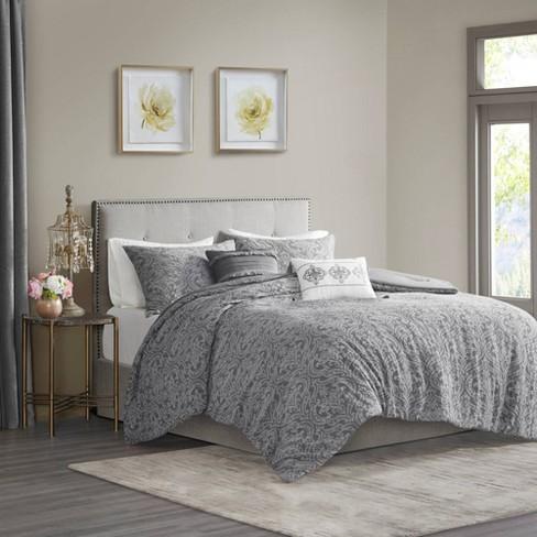 5pc Karena Damask Matelasse Cotton Comforter Set - image 1 of 4