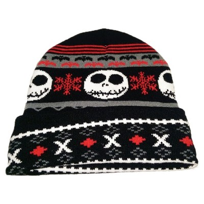 b44cefaf1f725 Nightmare Before Christmas Jack Cuff Knit Hat   Target