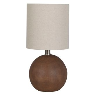 Faux Wood Table Lamp Brown (Lamp Only) - Threshold™