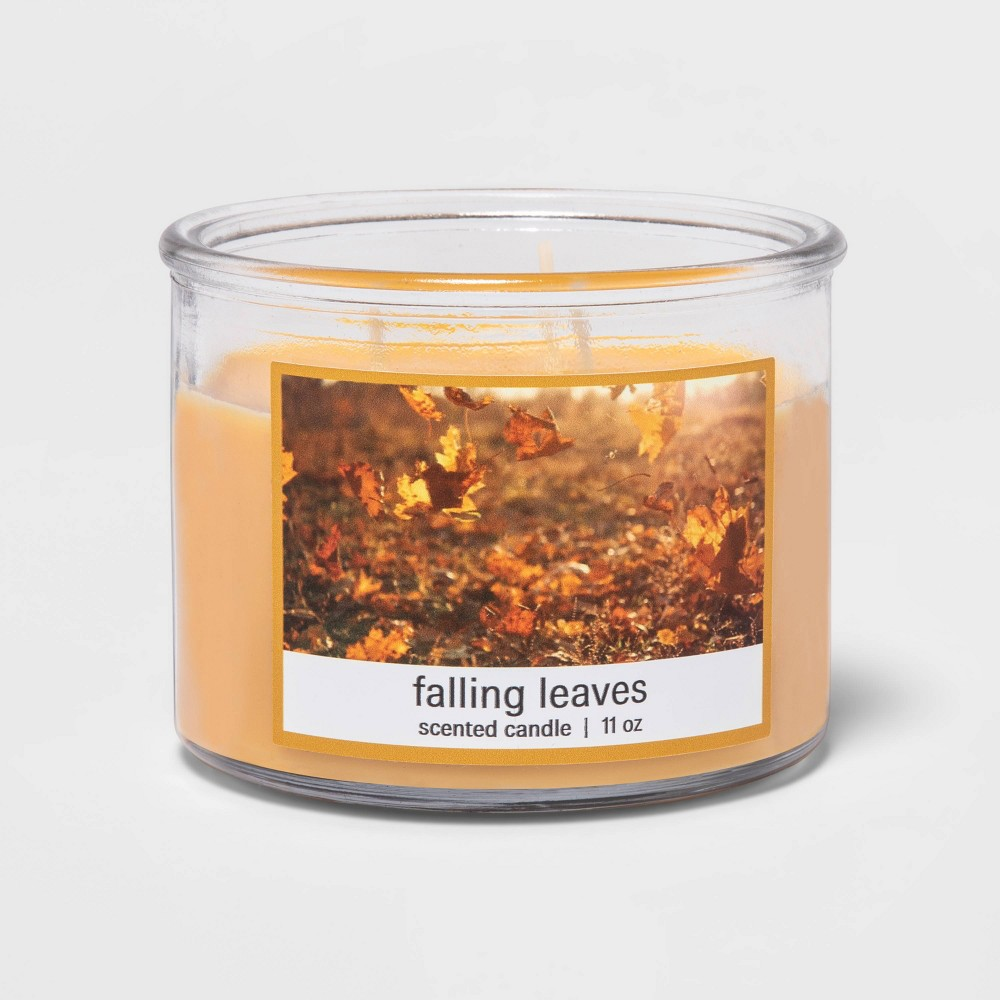 Promos 11oz Glass Jar 3-Wick Falling Leaves Candle