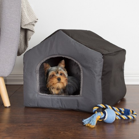 Petmaker Cozy Cottage House Shaped Dog Bed - Gray - image 1 of 6
