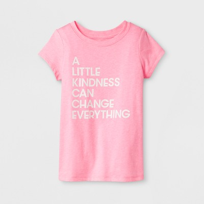 Toddler Girls'  A Little Kindness  Cap Sleeve T-Shirt - Cat & Jack™ Dark Pink 2T