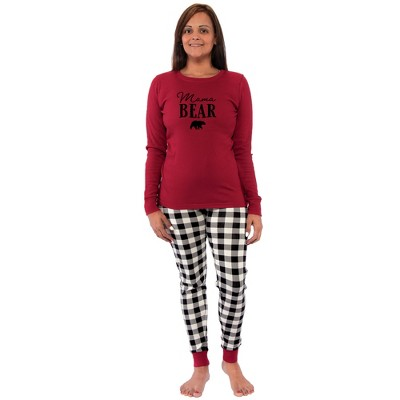 Touched by Nature Womens Unisex Holiday Pajamas, Bear