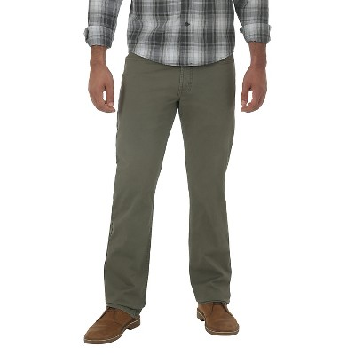 ee76017c Wrangler® RED Men's Vintage Straight Stretch Twill Pants Olive 32X34 :  Target