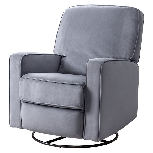 new product 9ae98 34d0b Bella Fabric Swivel Glider Recliner Chair - Gray - Abbyson Living