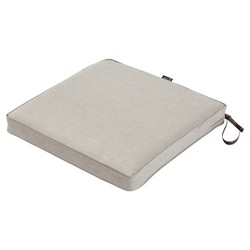 Montlake Fadesafe Square Patio Dining Seat Cushion Set - Heather Gray - Classic Accessories