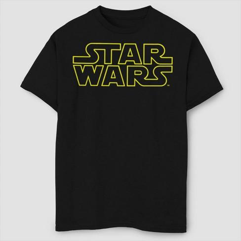 Boys' Star Wars Classic Logo T-Shirt - Black - image 1 of 2