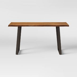 Thorald Live Edge Dining Table Brown - Threshold™